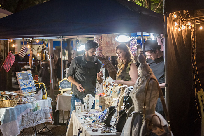 Every Saturday: Night Market + Concert Series