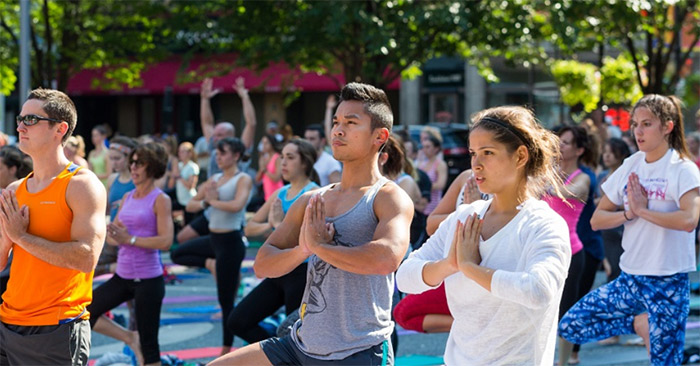Every Wednesday & Sunday: Yoga in the Square